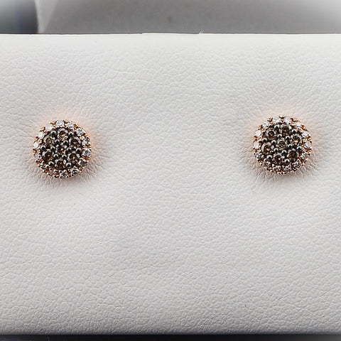 14K Rose Gold .33CT Diamond Earrings