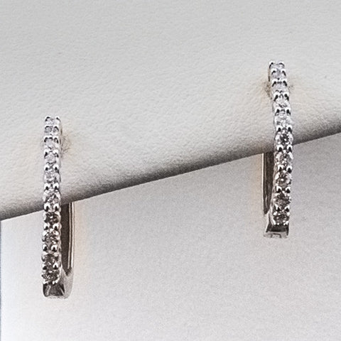 14K 1/4CT TWT Diamond Earrings
