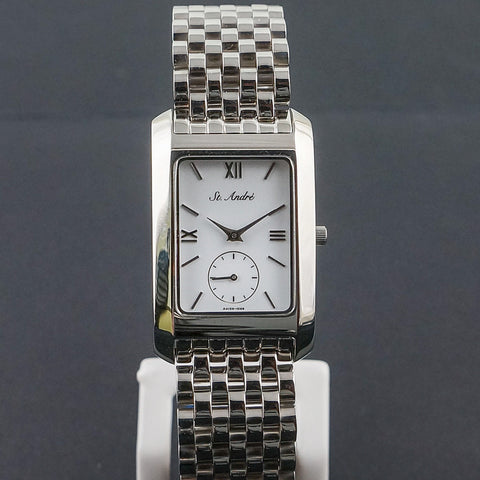 St.Andre Stainless Steel Square White Face Gents Watch