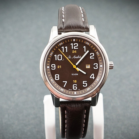 St.Andre Stainless Steel  Brown Face & Band Ladies Watch