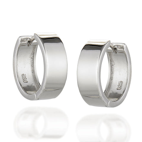 Sterling Silver small high polished hoops