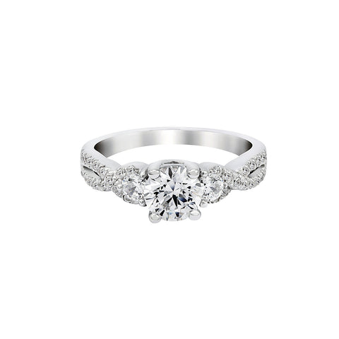 14K White Gold Engagement Ring TWT 0.50 CT.