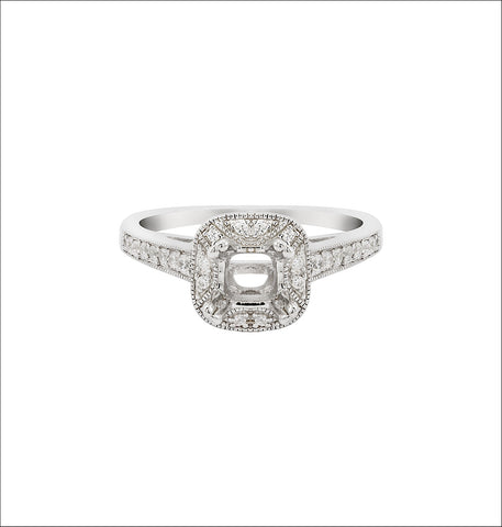 14K White Gold Engagement Ring TWT 0.30 CT.