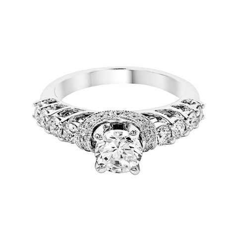 14K White Gold Engagement Ring TWT 0.70 CT.