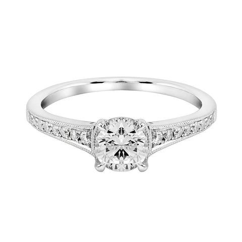 14K White Gold Engagement Ring TWT 0.25 CT.