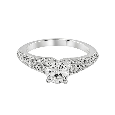 14K White Gold Engagement Ring TWT 0.40 CT