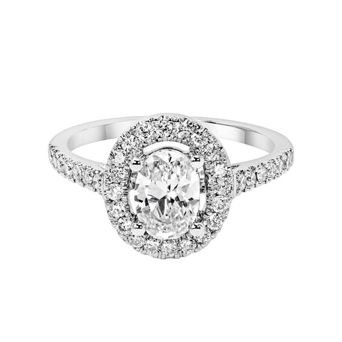 14K White Gold Engagement Ring TWT 0.40 CT.