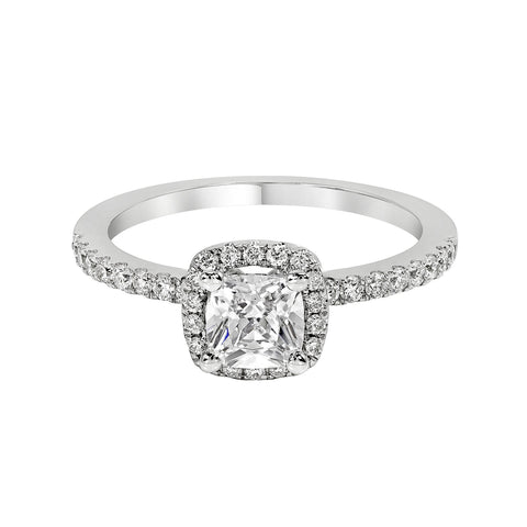 14K White Gold Engagement Ring TWT 0.35 CT.