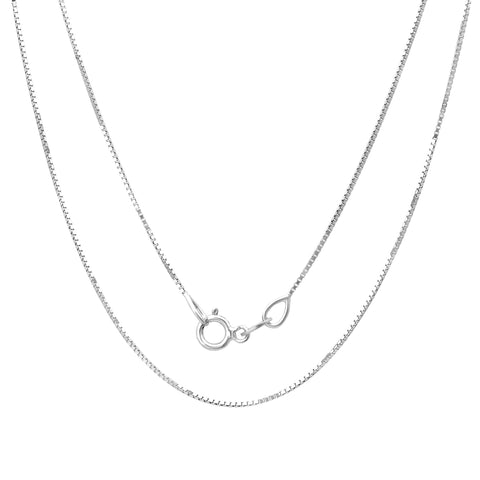 Sterling Silver 1MM 019 Box Chain
