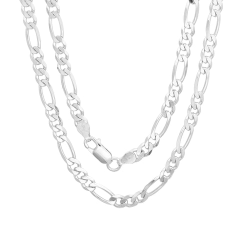 Sterling Silver Figaro Chain 4.50 MM
