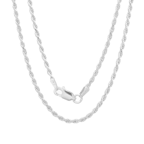 Sterling Silver 040 1.8mm D/C Rope Chain