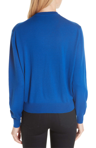 Balenciaga Royal Blue Double B Signature Logo Wool Sweater