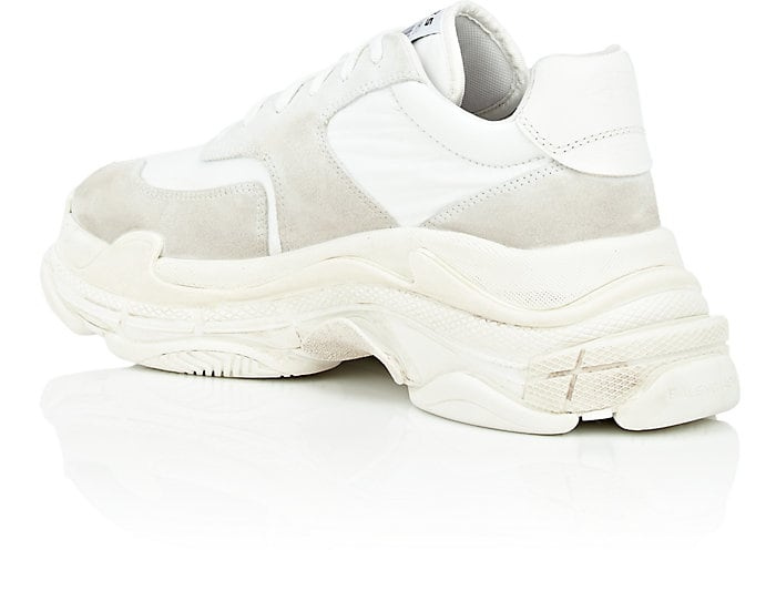 268f678c2afd Balenciaga Triple S White Suede Lace Up Low Top Mens Sneakers Shoes – Miami  Lux Boutique