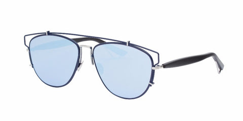 Dior Technologic Cutout Blue Metal Plastic Aviator Gradient Sunglasses