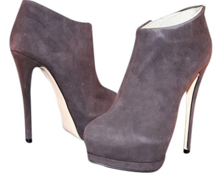 24985ede73c GIUSEPPE ZANOTTI EVA SUEDE BROWN ANKLE DOUBLE PLATFORM BOOTIES BOOTS ...