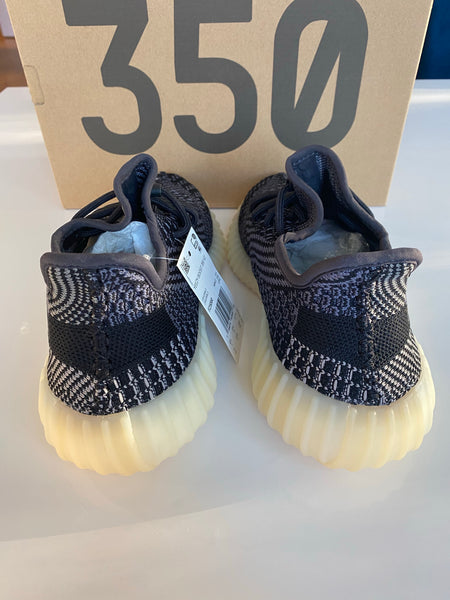 Yeezy Boost 350 Adidas Asriel Carbon Black Lace Up Sneakers