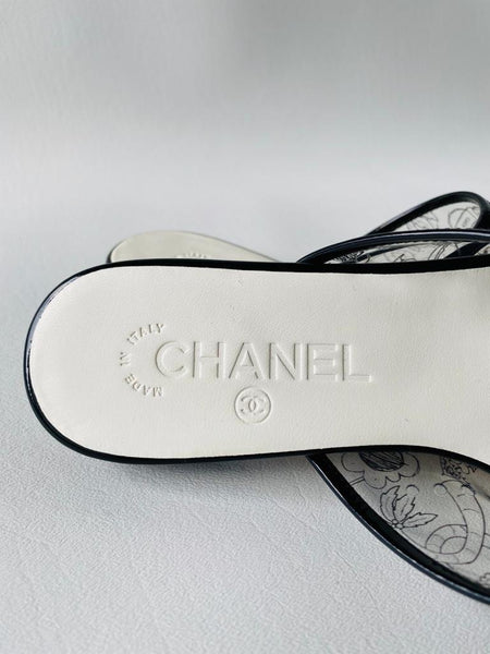 Chanel PVC Transparent CC Logo Black Slides Slide Mule