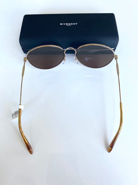 Givenchy Metal Round Frames Sunglasses Gold