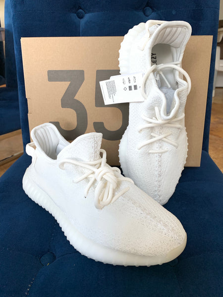 Yeezy Boost 350 Triple White V2 Lace Up Sneakers