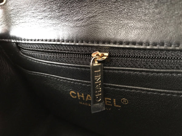 Chanel Classic Mini Square Quilted Black Lambskin Flap Cross Body Bag