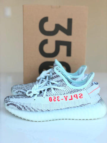 YEEZY BOOST 350 V2 BLUE TINT WHITE ZEBRA SEASON 6 SNEAKERS SHOES TRAINERS SHOE 5 MENS