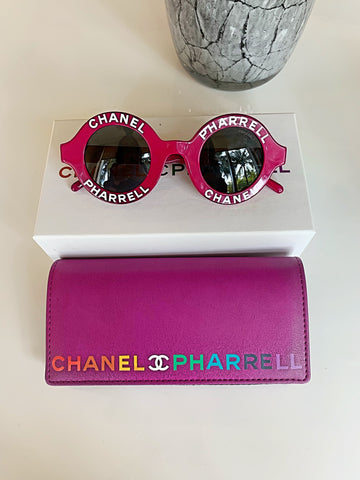 Chanel Pharrell Purple Capsule Round Vintage Sunglasses
