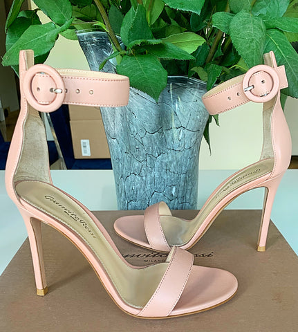 Gianvito Rossi Dahlia Portofino Nude Beige Open Toe Ankle Strap Sandals Shoes
