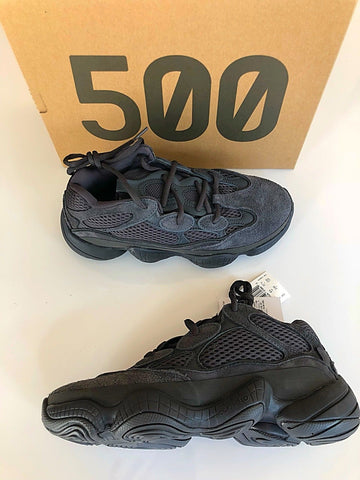 Adidas Yeezy 500 Utility Black Suede Ugly Dad Sneakers Shoes