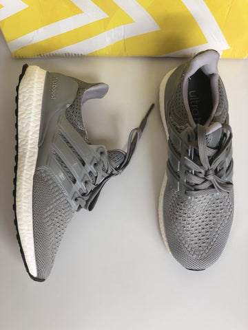 ADIDAS ULTRA BOOST GRAY MESH SNEAKERS SHOES TRAINERS SHOE