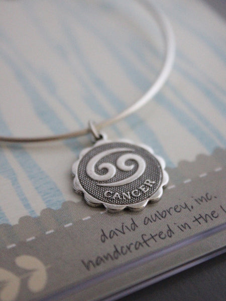 Sterling Silver Plate Cancer Bracelet