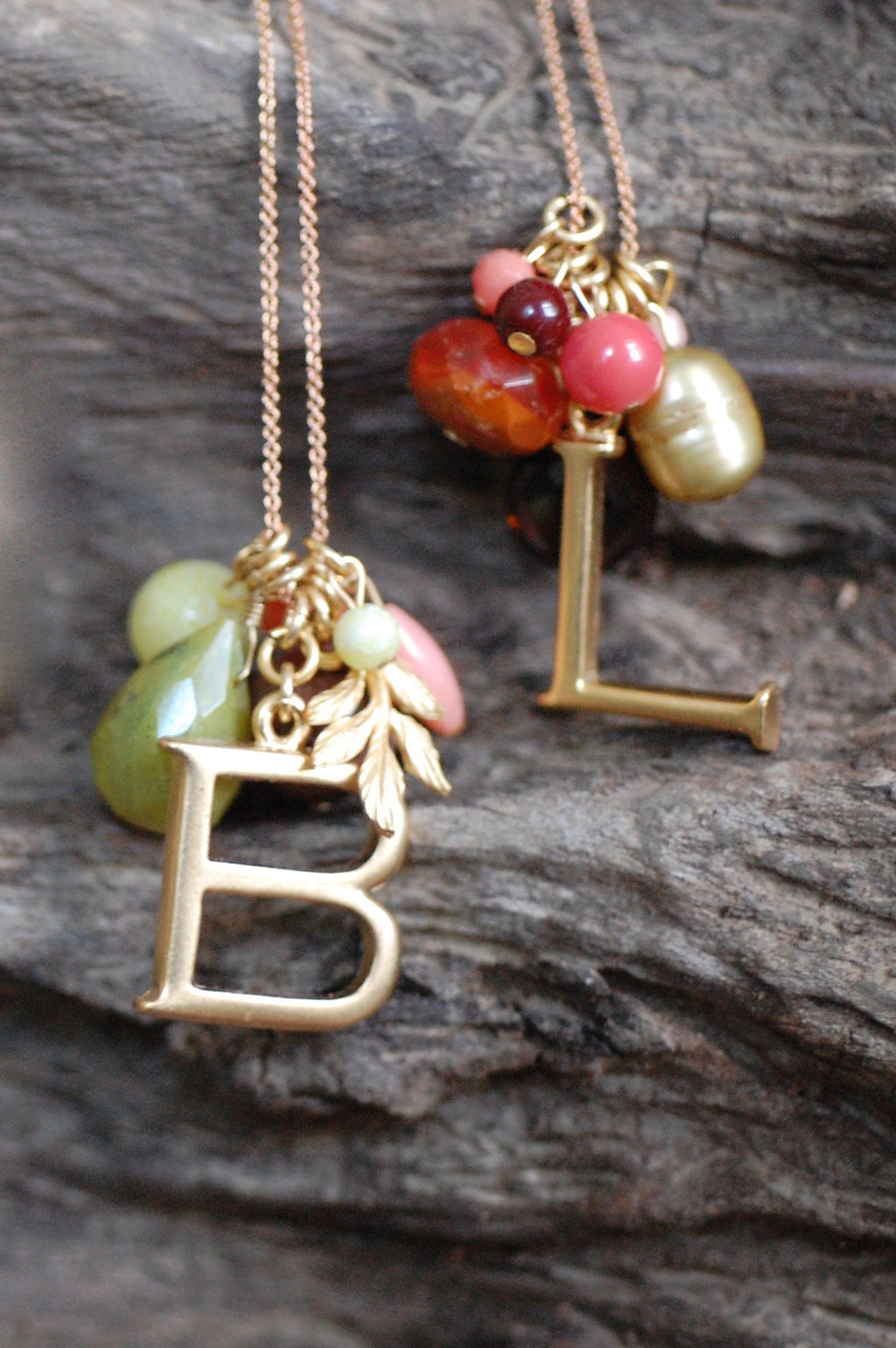 Monogram Color Cluster Necklace 12 colors