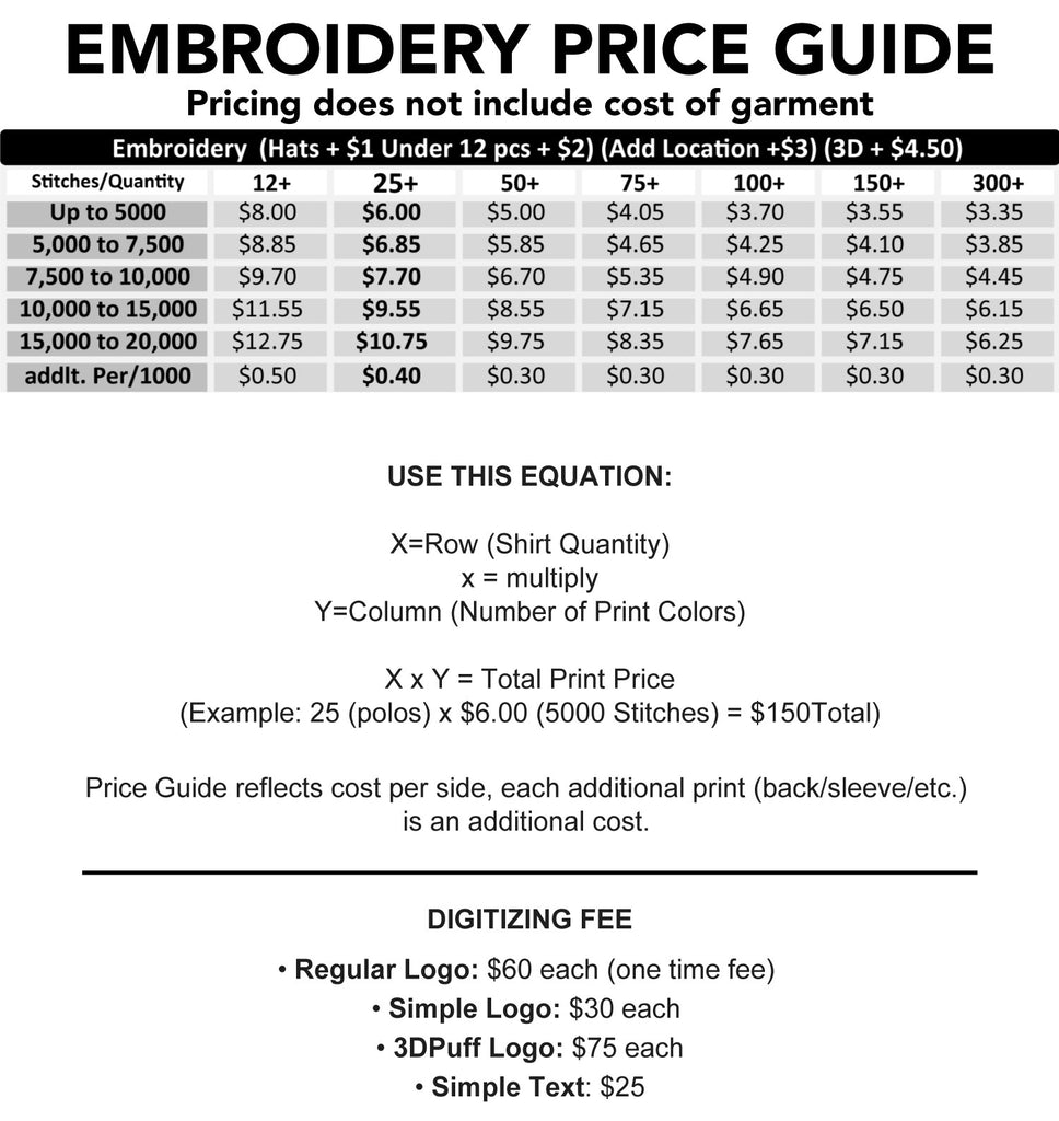 Thread Wolf Embroidery Price Guide