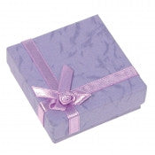 Pastel Linen Bow Tie Jewelry Boxes