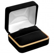 Soft Velvet Box With Gold rim