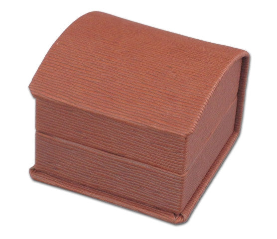 Embossed Soft Leather Ring Box - Jewel Box Co