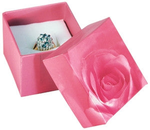 Rose Print Ring Box - Jewel Box Co
