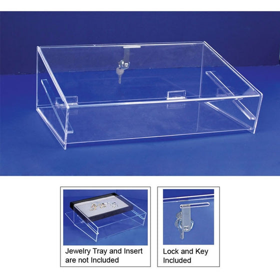 Acrylic Security Case For Utility Trays With Key Lock - Jewel Box Co