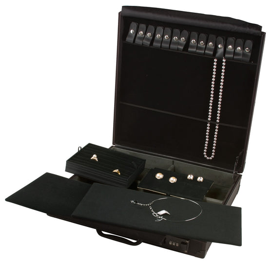 Black Aluminium Attache Case - Jewel Box Co