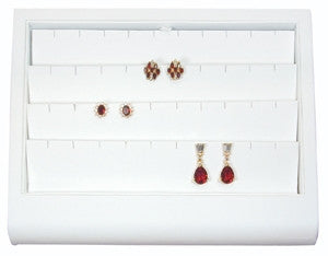 Curved Front 20 Pair Earring Display Tray - Jewel Box Co