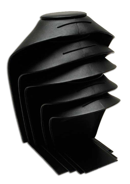 "4 3/4"" Stackable Leather Neckform - Jewel Box Co"