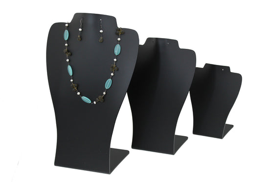 3 Piece Stackable Acrylic Combo Neckform Set - Jewel Box Co