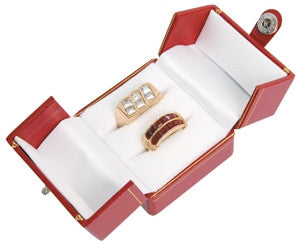 Double Ring 2-Door Jewelry Box - Jewel Box Co