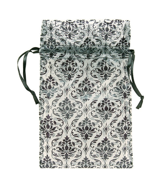 "3"" X 4"" Damask Organza Drawstring Pouch - Jewel Box Co"