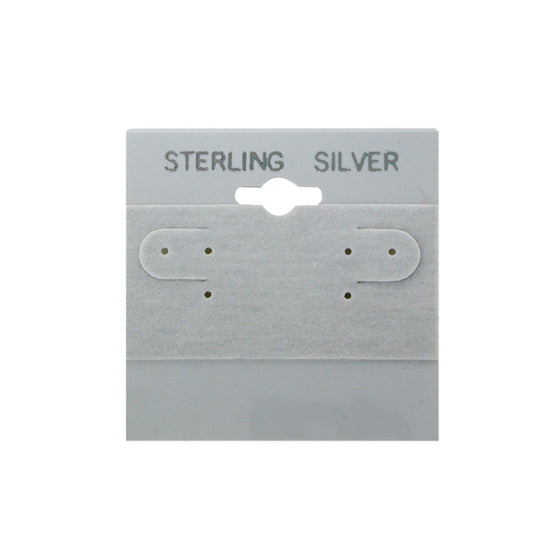 Grey Sterling Silver Hanging Earring Card