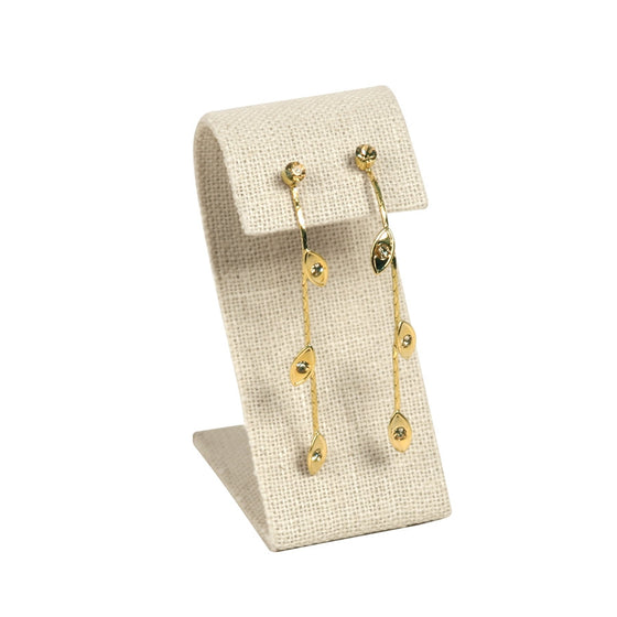 Linen Curved Top Earring Stand - Jewel Box Co