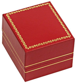 Double Ring Classic Leather Jewelry Box - Jewel Box Co