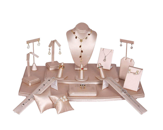 18 Piece Pink Steel Showcase Display Set - Jewel Box Co