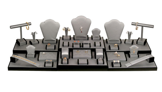 35 Piece Steel Grey Showcase Display Set