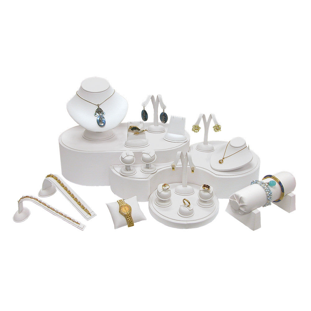 19-Piece Showcase collection set White Leather