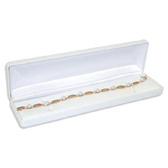 Classic Leather Metal Bracelet Box - Jewel Box Co
